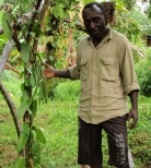 Junias displaying some locally grown vanilla